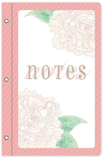 journals - Peonies by Lisa Zizza McSweeney