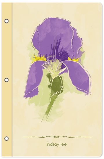 journals - Purple Iris by Lindsay Lee Siovaila