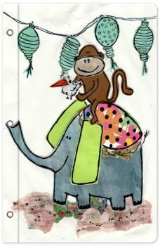 Monkey riding an Elephant
