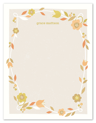 personal stationery - Garden Grace by Melanie Severin