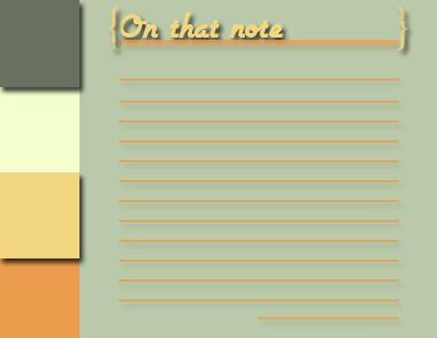 personal stationery - On that note by Erin Brenton
