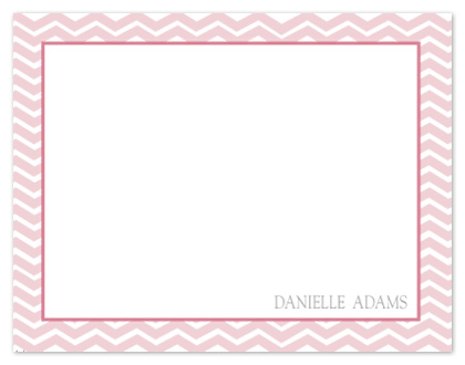 personal stationery - Classic Chevron Border by Paper Airplane Design