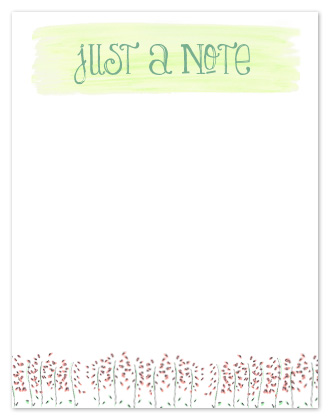 personal stationery - just a sweet note in green by Joy Laforme
