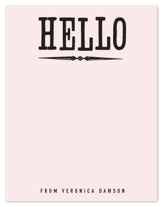 personal stationery - holla hello by trbdesign