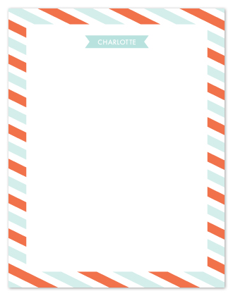 personal stationery - Flags and Stripes by Mariel Schmitt
