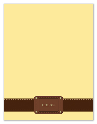 personal stationery - Chic Chloe by Arty Guava