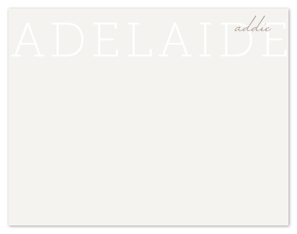 personal stationery - Soft Signature by Fig and Cotton