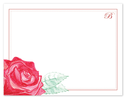 personal stationery - Your Rose is in Bloom by Shamera Kane