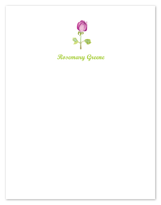 personal stationery - Fresh as a Pink Rosebud by Shamera Kane