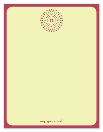personal stationery - Dotted Starburst by Marlene Leibowitz