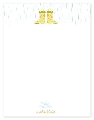 personal stationery - Rainy Day Notes by Vanessa Wolfe
