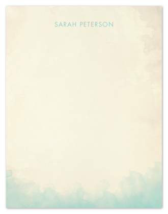 personal stationery - Soft Waves by Elaine Stephenson