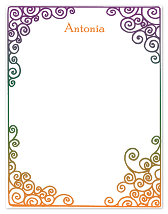 personal stationery - Autumn Rainbow by Shamera Kane