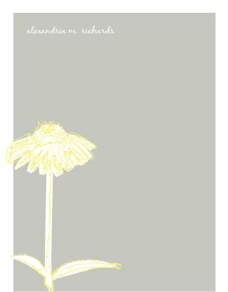 personal stationery - Sketchy flower by Joyrich Design Company