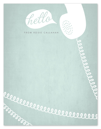 personal stationery - Cordial Hello by Sarah Curry