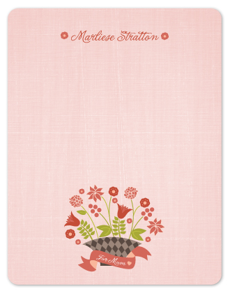 personal stationery - Mother's Bouquet by Wendy Van Ryn