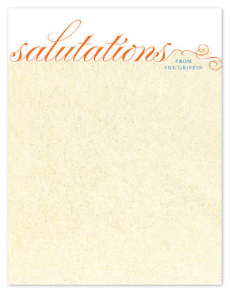 personal stationery - salutations with curves by tracey atkinson
