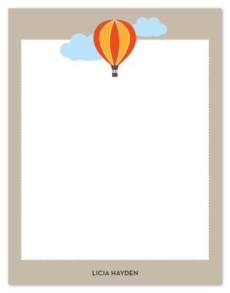 personal stationery - Air balloon journey by msHay