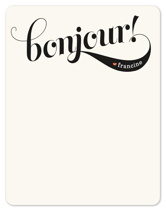 personal stationery - Bonjour! by Melanie Severin