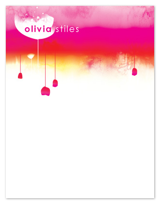 personal stationery - Olivia's Garden  by Arty Guava