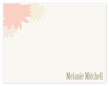 personal stationery - Dahlias by Jane Anderson Grizzle