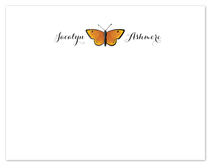 personal stationery - Single Butterfly  by Ann Gardner