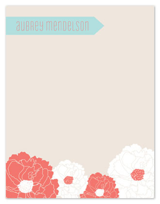 personal stationery - Arrow Floral by Seedlings