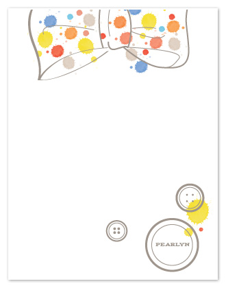 personal stationery - miss polka dots  by Arty Guava