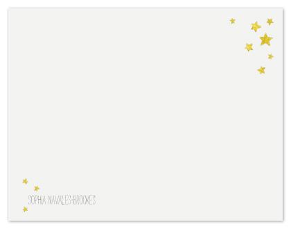 personal stationery - Les petites étoiles by Blixa 6 Studios