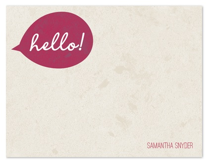 personal stationery - Happy Hello Bubble by Simply Shira