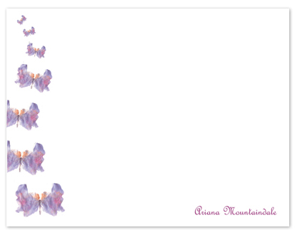 personal stationery - Butterflies In Flight by Shamera Kane