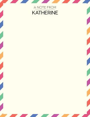 personal stationery - postal retro by Katherine