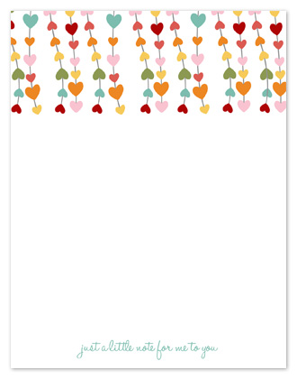 personal stationery - Dangling Hearts  by Sharise Williams