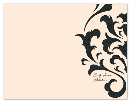 personal stationery - Damask Edge by Lisa Zizza McSweeney