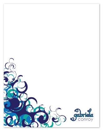 personal stationery - Swirls by Lisa Zizza McSweeney