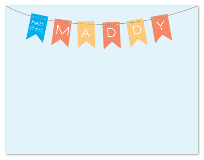 personal stationery - merry little banner by roxanne chang