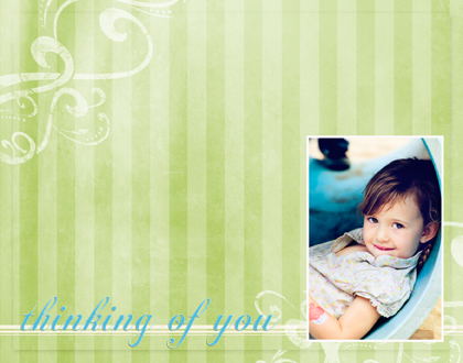 personal stationery - Thinking of You by Julie D Luehrs
