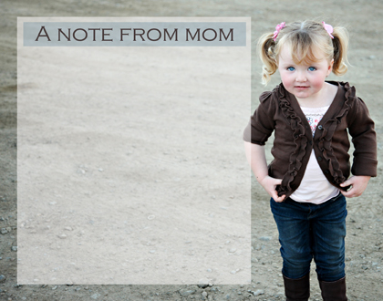 personal stationery - Moms note by Julie D Luehrs