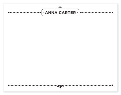 personal stationery - Vintage Name Card by Adai Le