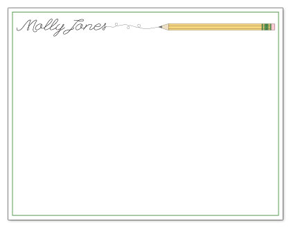 personal stationery - Pencil Doodle Note Card by Adai Le