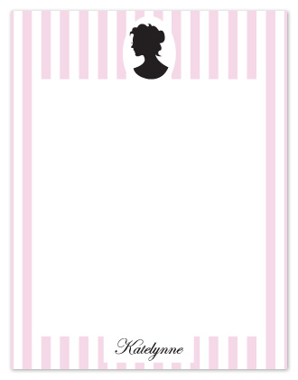 personal stationery - Feminine Cameo by Denise Design