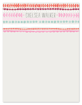 personal stationery - Striped Lines by Alethea and Ruth