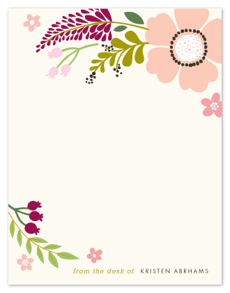 personal stationery - Victorian Mod Floral  by Alethea and Ruth