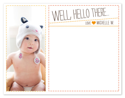 personal stationery - Well, hello baby by msHay