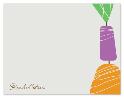 personal stationery - Jewels of Color by Rachel Buchholz