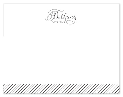 personal stationery - B&W by Chips and Salsa Design Studio