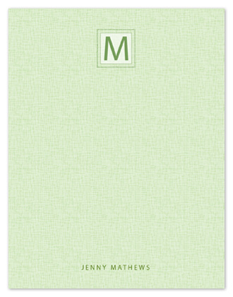 personal stationery - Initial Squared by Tracy Dunn