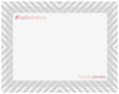 personal stationery - HelloThere by Christine Gruenberg