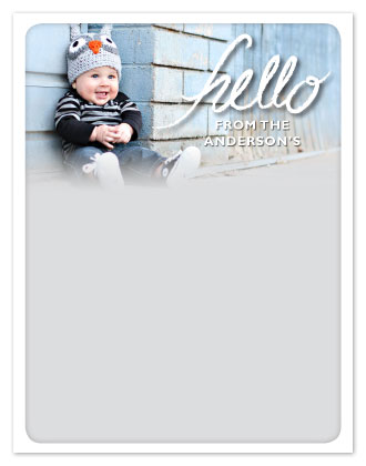 personal stationery - Fading Hello by Emily Ford