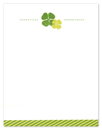 personal stationery - Double Luck by Snow and Ivy